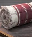 tam toile coton carreaux grenat