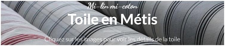 Toile en Métis mi lin mi coton