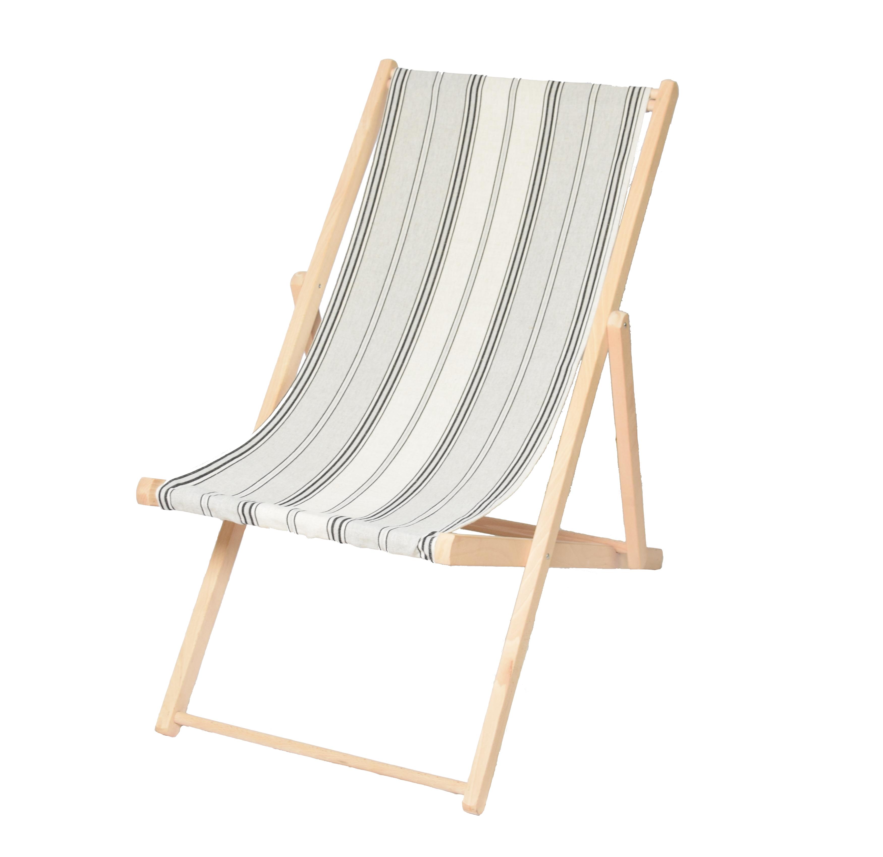 Toile transat pour chaise longue gris fabriqu en france - Toile a transat au metre ...