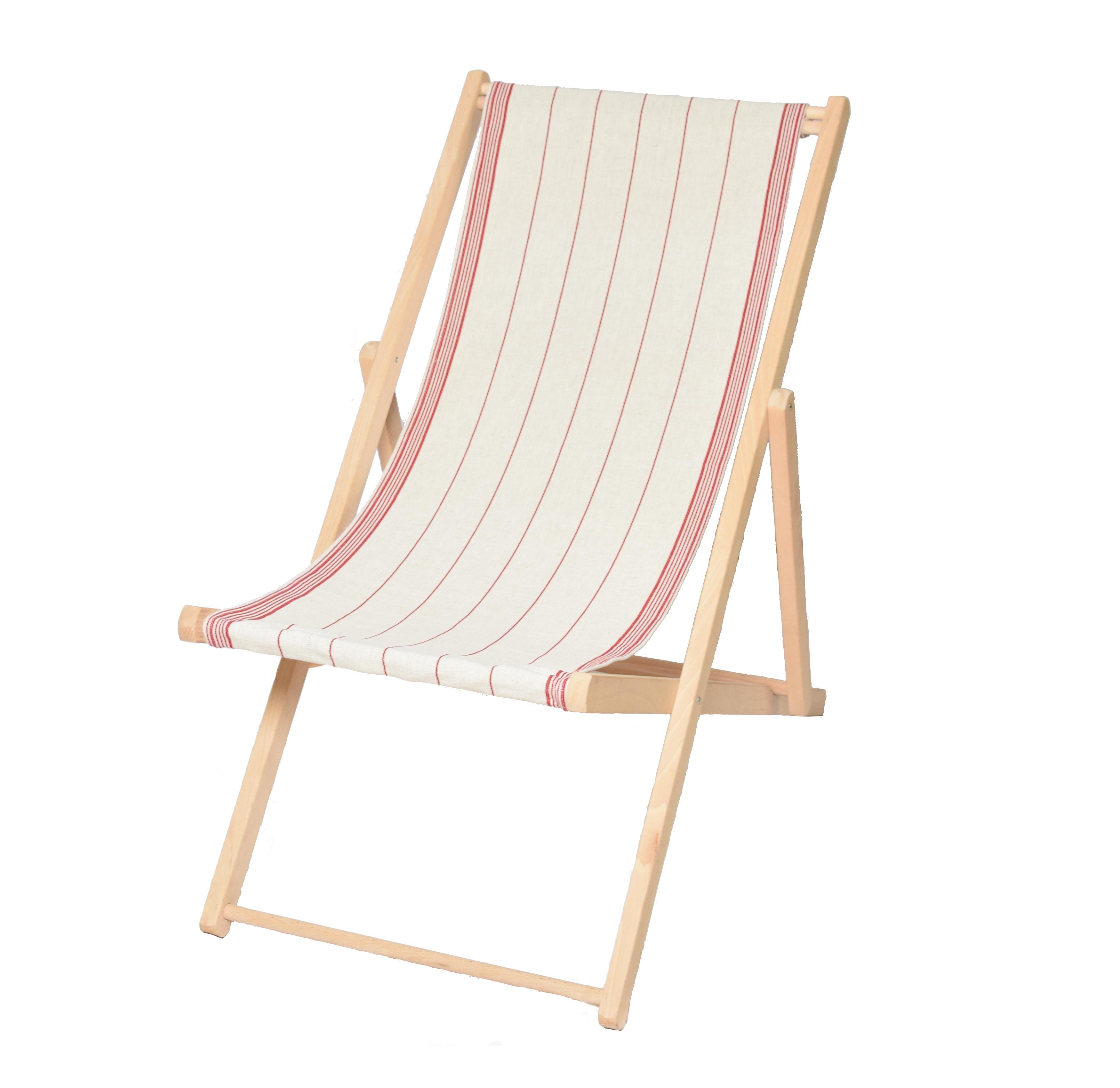 Toile transat pour chaise longue rouge fabriqu e en france for Changer toile chaise longue
